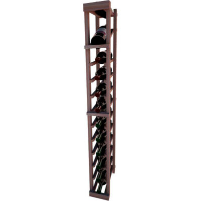 Individual Bottle Wine Rack - 1 Column W/Top Display, 4 ft high - Black, Mahogany