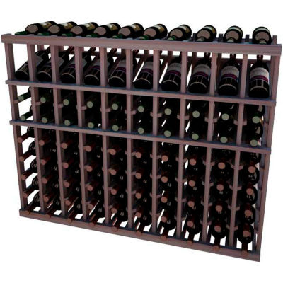 Individual Bottle Wine Rack - 10 Columns, 4 ft high - Unstained Mahogany