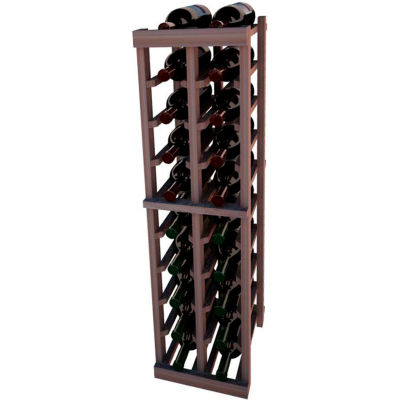Individual Bottle Wine Rack - 2 Columns, 4 ft high - Unstained Mahogany