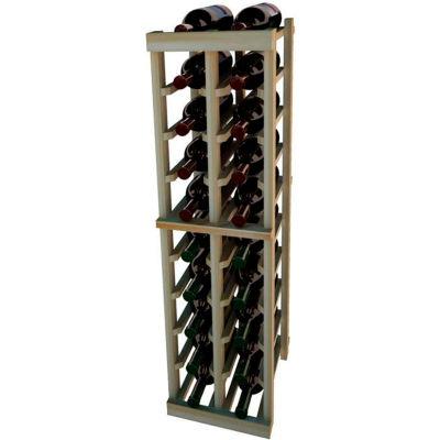 Individual Bottle Wine Rack - 2 Columns, 4 ft high - Mahogany, Redwood