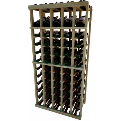 Individual Bottle Wine Rack - 5 Column W/Top Display, 4 ft high - Mahogany, Redwood