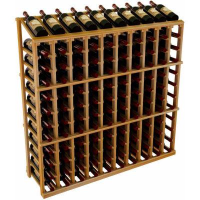 Vintner Commercial 10 Column Merchandiser W/Individual Bottle Rails -  Redwood, Mahogany