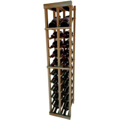 Individual Bottle Wine Rack - 2 Column W/Top Display, 4 ft high - Walnut, Redwood