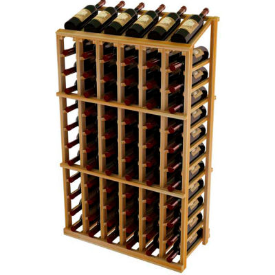 Vintner Commercial 6 Column Merchandiser W/Individual Bottle Rails -  Redwood, Light