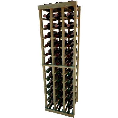 Individual Bottle Wine Rack - 3 Columns, 4 ft high - Light, Redwood
