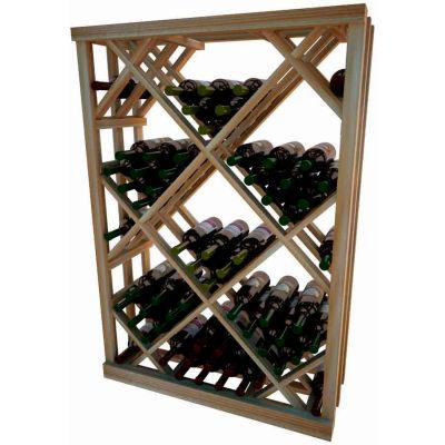 Diamond Bin Wine Rack - 4 ft high - Light, Redwood