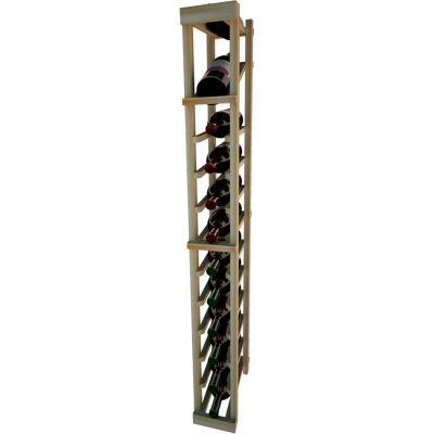 Individual Bottle Wine Rack - 1 Column W/Top Display, 4 ft high - Black, Redwood
