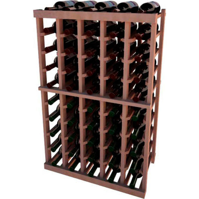 Individual Bottle Wine Rack - 5 Columns, 3 ft high - Mahogany, All-Heart Redwood