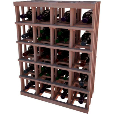 Individual Bottle Wine Rack - Magnum Bottle, 3 ft high - Mahogany, All-Heart Redwood