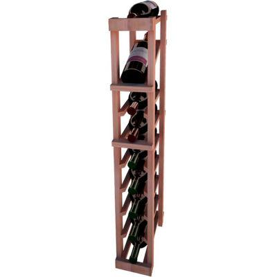 Individual Bottle Wine Rack - 1 Column W/Top Display, 3 ft high - Light, All-Heart Redwood