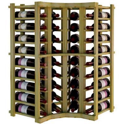 Individual Bottle Wine Rack - Curved Corner, 3 ft high - Walnut, Pine