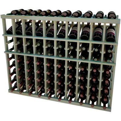 Individual Bottle Wine Rack - 10 Columns, 3 ft high - Light, Pine
