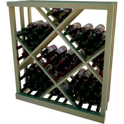 Diamond Bin Wine Rack - 3 ft high - Light, Pine