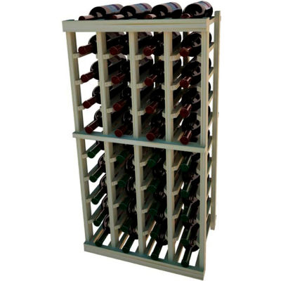 Individual Bottle Wine Rack - 4 Columns, 3 ft high - Unstained Pine