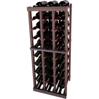 Individual Bottle Wine Rack - 3 Columns, 3 ft high - Mahogany, Mahogany