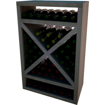 Diamond Solid Cube Wine Rack - w/Face Trim, 3 ft high - Mahogany, Mahogany