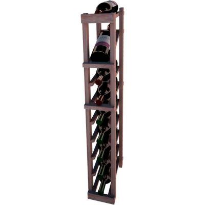 Individual Bottle Wine Rack - 1 Column W/Top Display, 3 ft high - Walnut, Mahogany