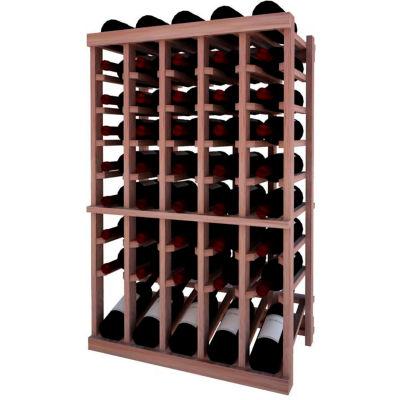Individual Bottle Wine Rack - 5 Column W/Lower Display, 3 ft high - Light, Mahogany