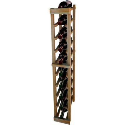 Individual Bottle Wine Rack - 1 Column, 3 ft high - Mahogany, Redwood