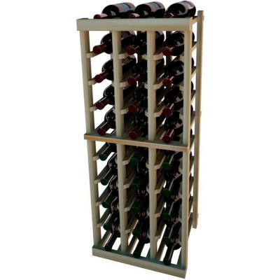 Individual Bottle Wine Rack - 3 Columns, 3 ft high - Mahogany, Redwood