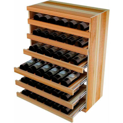 Bulk Storage, Pull Out Wine Bottle Cradle, 6-Drawer 3 Ft high - Mahogany, Redwood