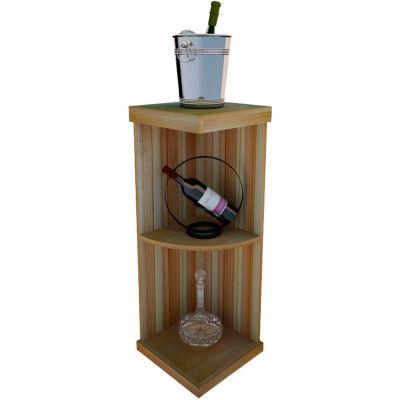 Bulk Storage, Quarter-Round Wine Bottle Shelf, 3-Shelf, 3 Ft high - Mahogany, Redwood