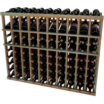 Individual Bottle Wine Rack - 10 Column W/Top Display, 3 ft high - Walnut, Redwood