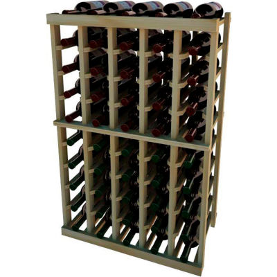 Individual Bottle Wine Rack - 5 Columns, 3 ft high - Walnut, Redwood