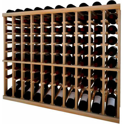 Individual Bottle Wine Rack - 10 Column W/Lower Display, 3 ft high - Light, Redwood