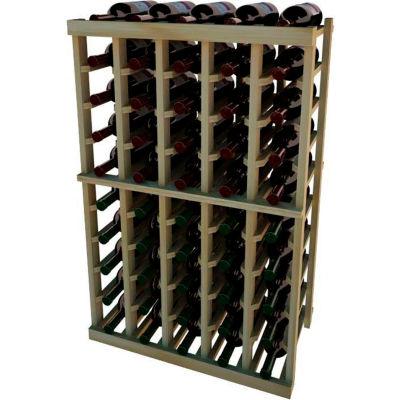 Individual Bottle Wine Rack - 5 Columns, 3 ft high - Black, Redwood