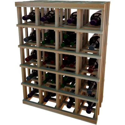 Individual Bottle Wine Rack - Magnum Bottle, 3 ft high - Unstained Redwood
