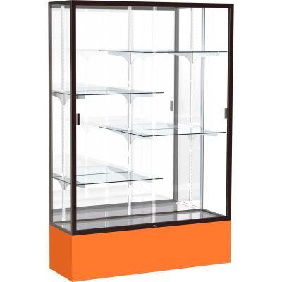 "Spirit Display Case Orange Base, Bronze Frame, Mirror Back 48""W x 16""D x 72""H"