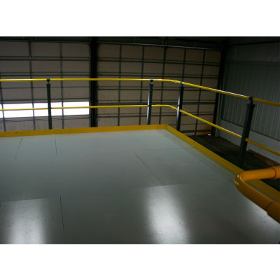 Wildeck® 2-Rail Hand Rail/Kick Plate, Per Linear Foot