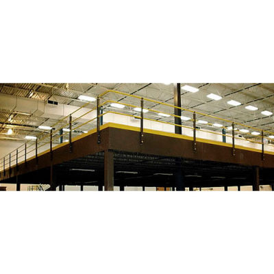 Wildeck® 3-Rail Hand Rail/Kick Plate, Per Linear Foot