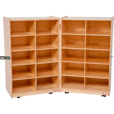 Folding Vertical Storage without Trays