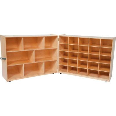 Tray and Shelf Folding Storage without Trays