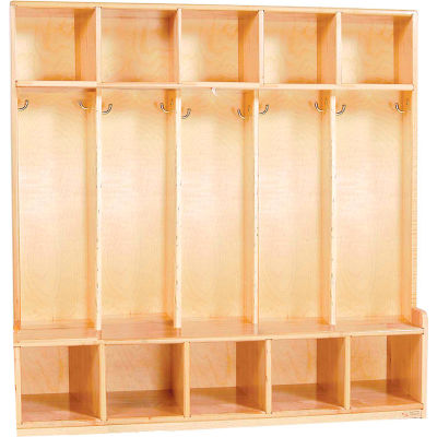Five Section Offset Locker, Maple