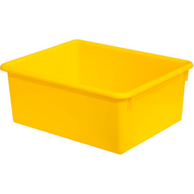 Rectangular Cubby Tray, Yellow