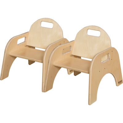 """Wood Designs™ Woodie, 7"""" Seat Height, Carton of Two"""