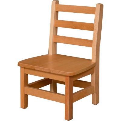 """Wood Designs™ 10"""" Seat Height Hardwood Chair, Packed One Per Carton"""