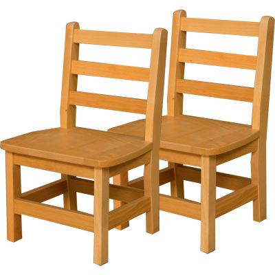 "Wood Designs™ 11"" Seat Height Hardwood Chair, Carton of Two"