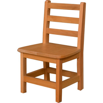 """Wood Designs™ 12"""" Seat Height Hardwood Chair, Packed One Per Carton"""