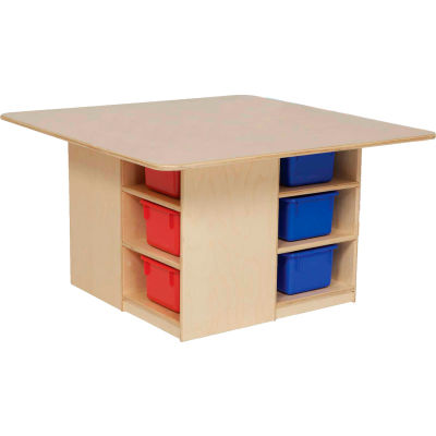 Wood Designs™ Cubby Table with Twelve Color Trays