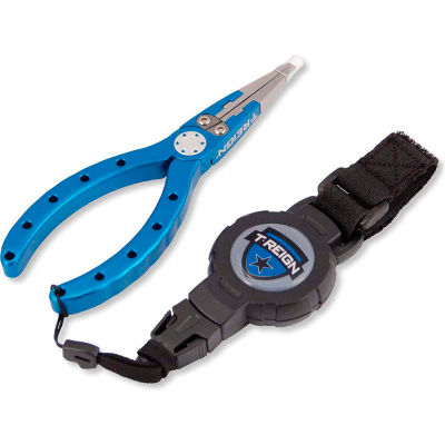 T-Reign Fishing Pliers with Medium Retractable Gear Tether 0TBP-0081 - VELCRO®Brand Strap