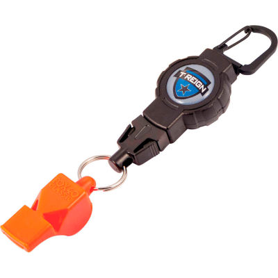 T-Reign Retractable Gear Tether with FOX40 Safety Whistle 0TBP-0201 - Carabiner