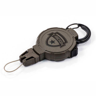 """T-Reign Hunting Retractable Gear Tether 0TR0-025 - Large 48""""Extention OD Green Carabiner"""