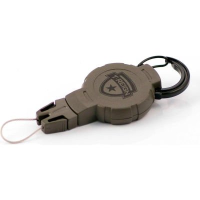 """T-Reign Hunting Retractable Gear Tether 0TR0-215 - Medium 36""""Extention OD Green Carabiner"""