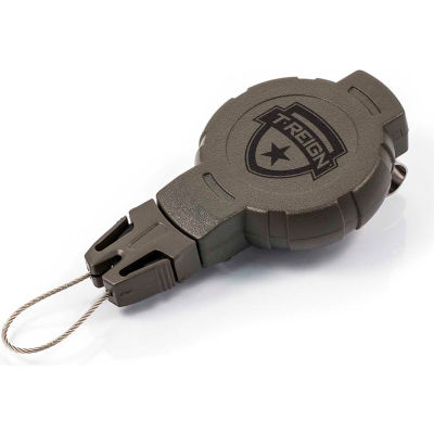 """T-Reign Hunting Retractable Gear Tether 0TR0-217 - Medium 36""""Extention OD Green Belt Clip"""