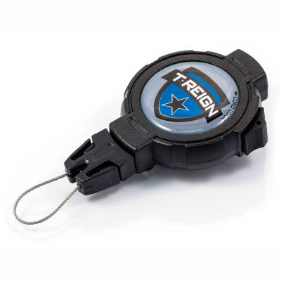 """T-Reign Fishing Retractable Gear Tether 0TR2-015 - Large 48""""Extention Black Belt Clip"""