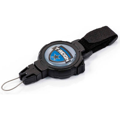 """T-Reign Fishing Retractable Gear Tether 0TR2-017 - Large 48""""Extention Black VELCRO®Brand Strap"""